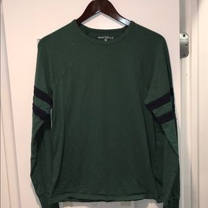 J. Crew Slim double-striped football T-shirt